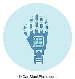 Robotic Arm Icon Modern Robot Technology Concept