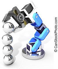 Robotic arm technology industrial balls