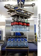 Robotic arm water bottles