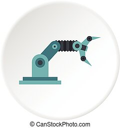 robotic beväpnar, ikon, cirkel