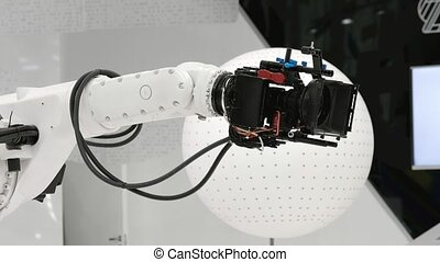 Robotic camera for broadcasting at television