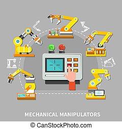 robotic, composizione, braccio