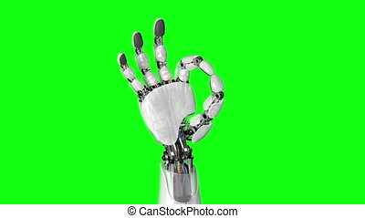 Robotic Hand Shows Okay Sign