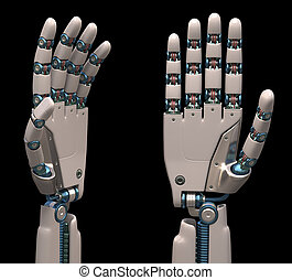 Robotic Hands - Robotic hands shaped and measures that mimic...