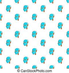 Robotic head pattern, cartoon style