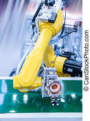 Robotic machine vision system in factory