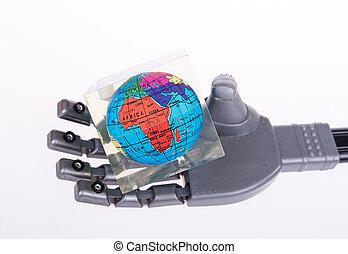robotic mechanical arm with globe