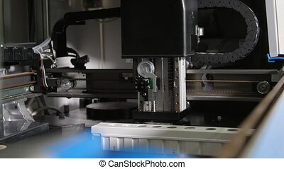 Robotic medical equipment for blood analysis riding in a special laboratory