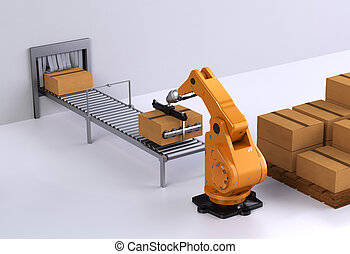 Robotic Palletising - Robotic palletising and packaging...
