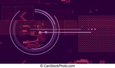 """Robotic Pink and Violet Background"" - ""An automatic 3d..."