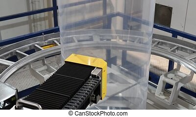 Robotic quality control unit on plastic extruder - Plastic...