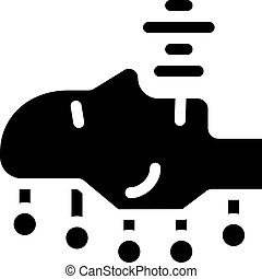 robotic voice glyph icon vector isolated illustration