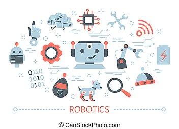 Robotics concept. Idea of artificial intelligence and futuristic