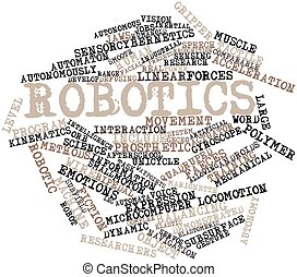 Robotics - Abstract word cloud for Robotics with related...