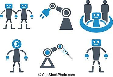 Robotics Android Cyborg Robot Factory Industrial Plant Future