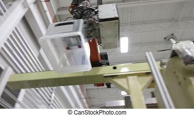 Robotics Machinery in Factory