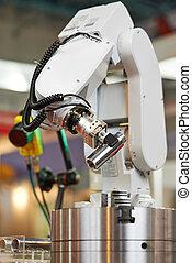 robotics. manipulator arm with detail - Robotics. Mechanical...