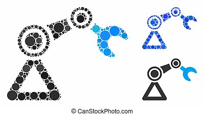 Robotics manipulator Composition Icon of Circle Dots
