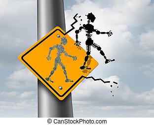 Robotics Technology - Robotics technology symbol as an icon...