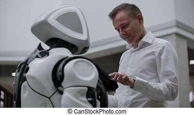 Robotics Trends technology , smart retail business concept....