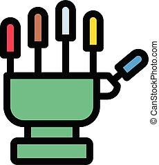 robotics vector color line icon