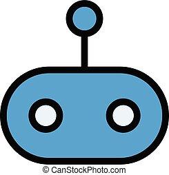 robotics vector colour line  icon