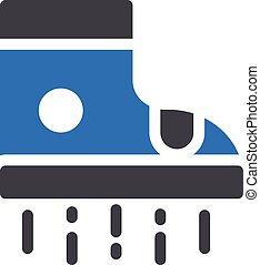 robotics vector glyph color icon