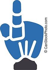 robotics vector glyph colour icon