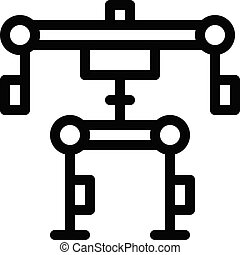 robotics vector thin line icon