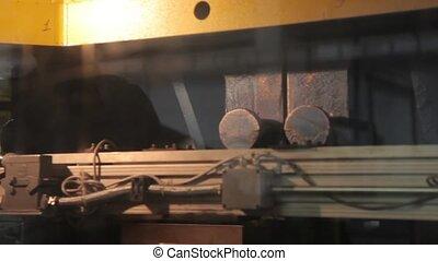 Robotics work in production line watch HD