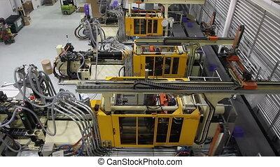 robotique, sommet, 2, usine, vue