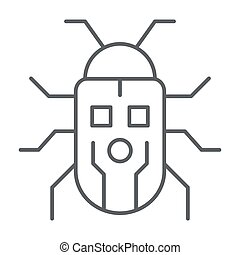 robotization, アイコン, ロボティック, ベクトル, ロボット, 印, 虫, graphics., スタイル, かぶと虫, 概念, 網, 白, アウトライン, design., 線, アイコン, 概念, 薄くなりなさい, モビール, 背景