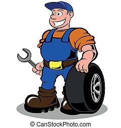 robotnik automobilu