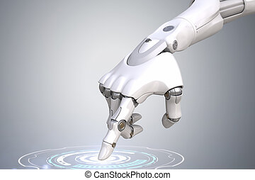 robot's, 手, 是, 按按鈕