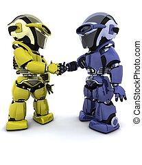 robots, dans, accord