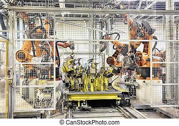robots, dans voiture, usine
