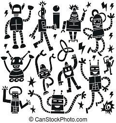 Robots - doodles set