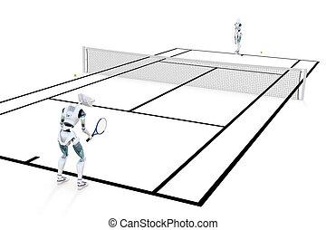 Robots Playing Tennis