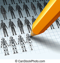 Robots Replacing Employees