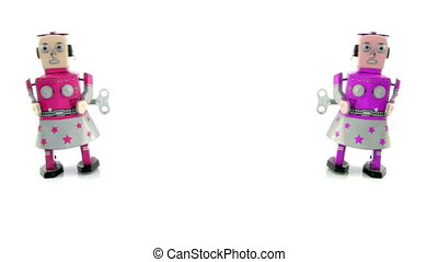 robots - two robot toy come together