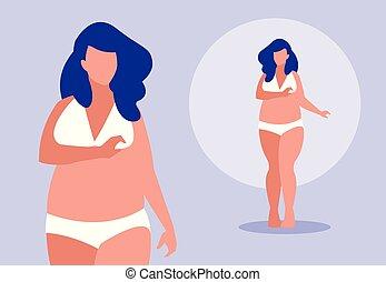 robust women modeling underwear vector illustration design
