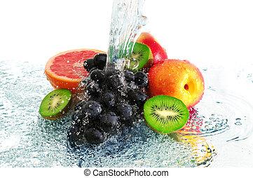 rocío agua, fruta