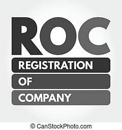 ROC - Registration Of Company acronym concept - ROC - ...