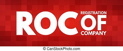 ROC - Registration Of Company acronym concept