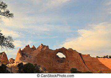 roca, capitolio, navajo, ventana, nación