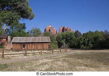 roca, catedral, arizona, sedona