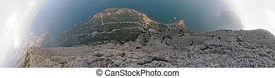 roca, mundo, vertical