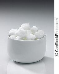 roca, tazón, azúcar