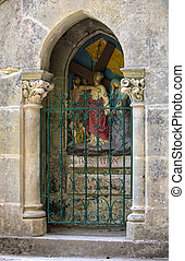 Stations of the Crucifixion Way at the sanctuary of Rocamadour. France
