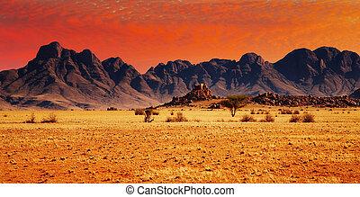 rocas, de, desierto de namib